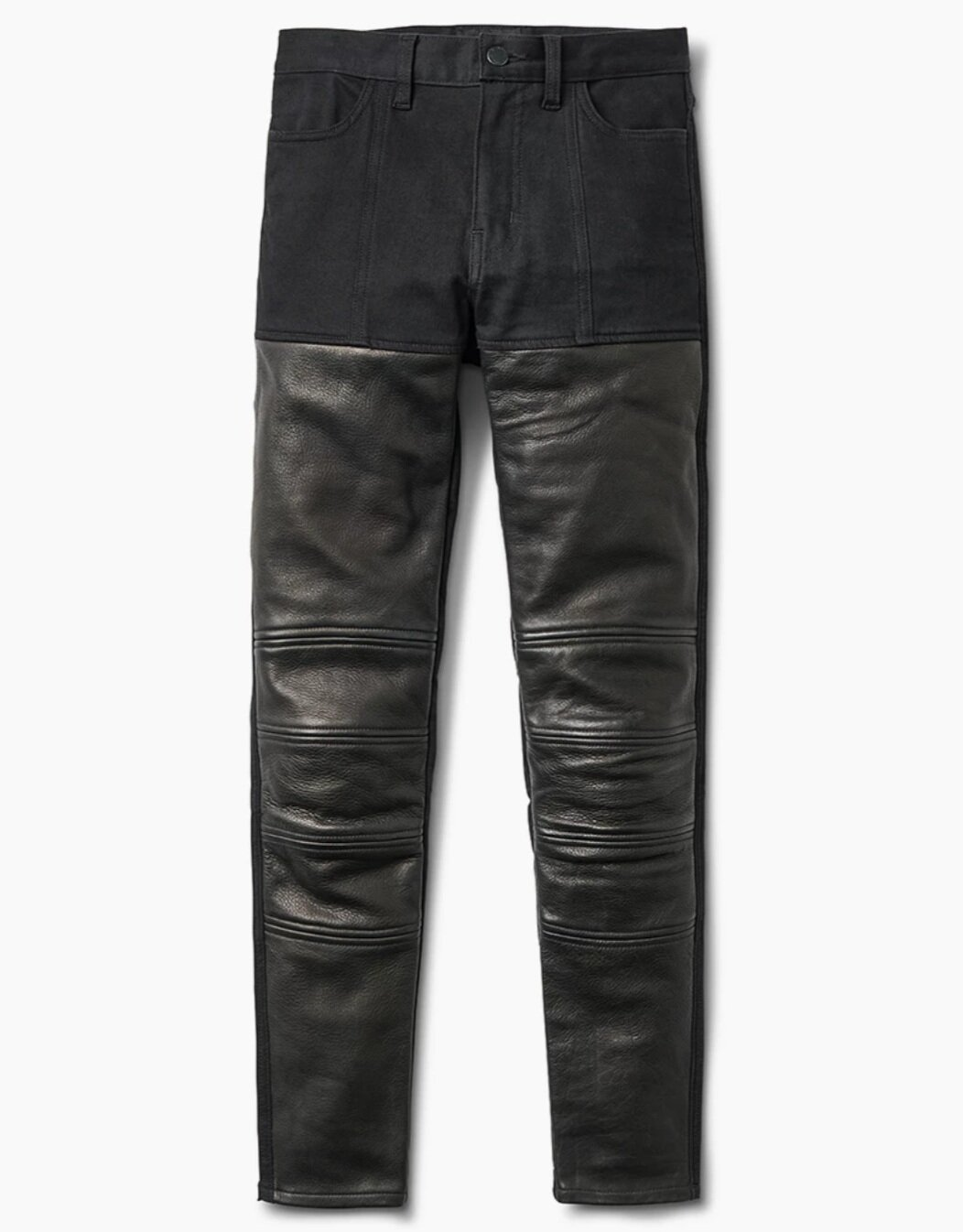 SHRED 2.O MOTO JEANS - WITH DUPONT KEVLAR AND D30 ARMOR. THE UV COATED LEATHER HELPS TO BLOG THE WIND AND PROTECT YOUR SKIN. THEY FIT LIKE A DREAM WITH PLENTY OF STRETCH!