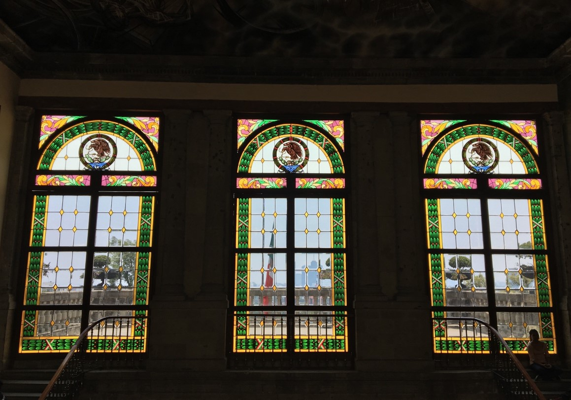 Stained glass in Chapultepec Castle.