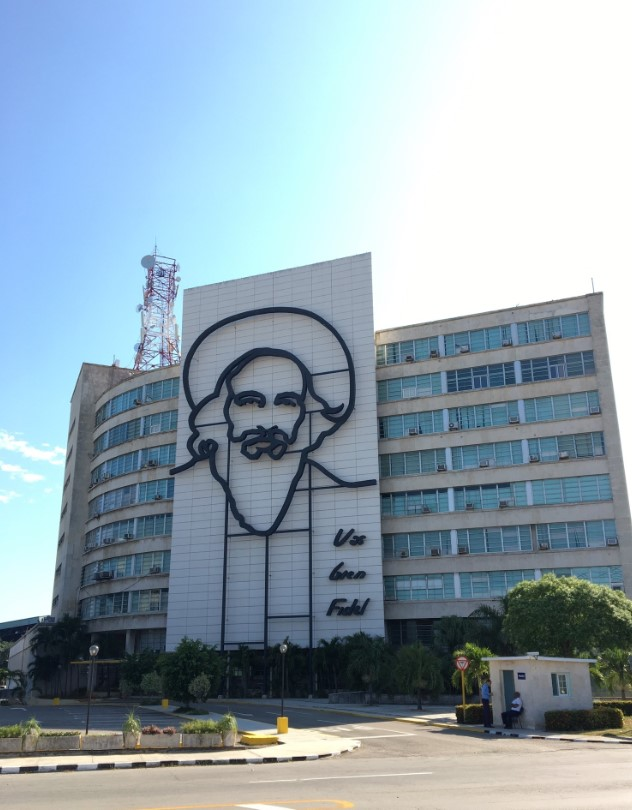 Across from the Plaza de la Revolucion. Memorial for Jose Marti and Che Guevara