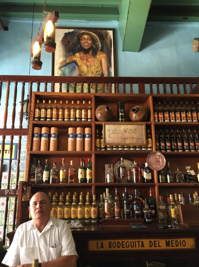 La Bodeguita de Medio…..Stopped by to visit the bar where Ernest Hemingway would buy his mojitos.
