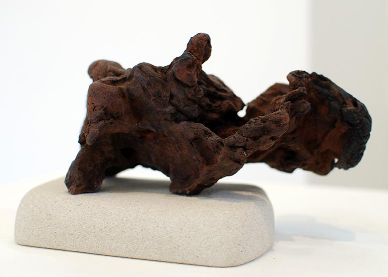 Copy of 'Washed Up', Simon Gandevia, Wood on Sandstone base.