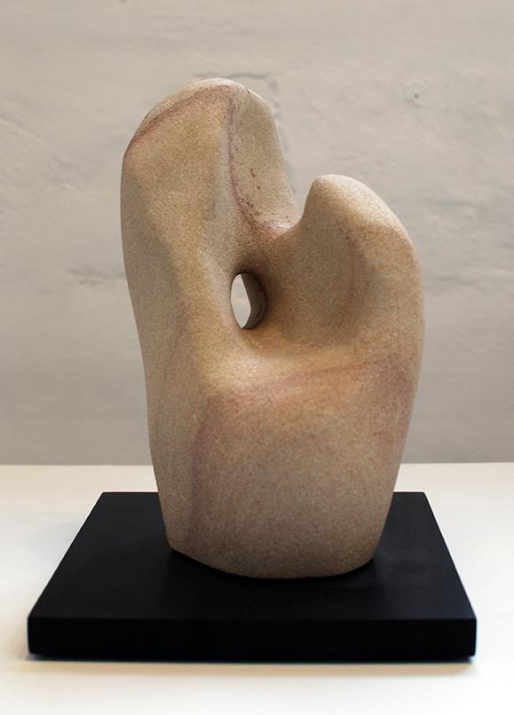 Copy of 'Hand Evolving', Simon Gandevia, Sandstone on Fontainbleu base.