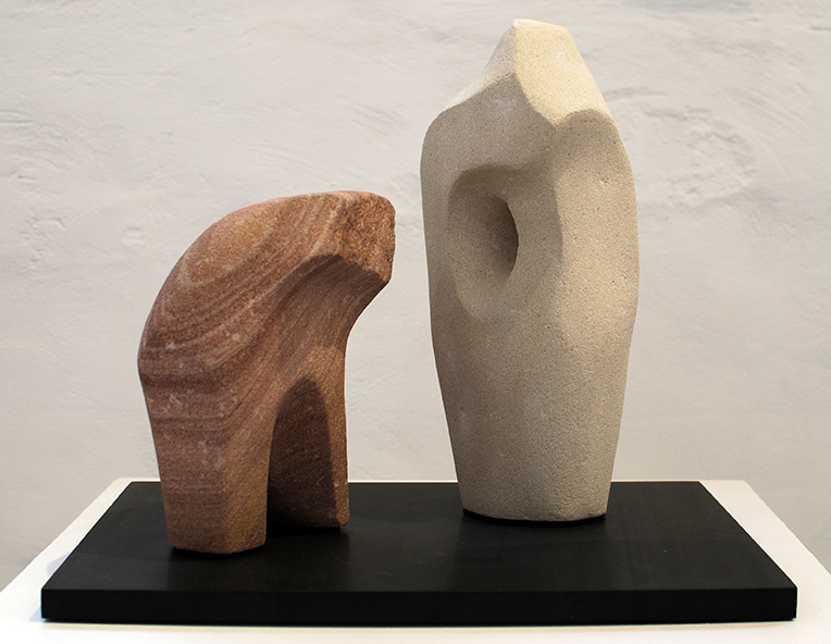 Copy of 'You and Me', Simon Gandevia, Sandstone on Fontainbleu base.