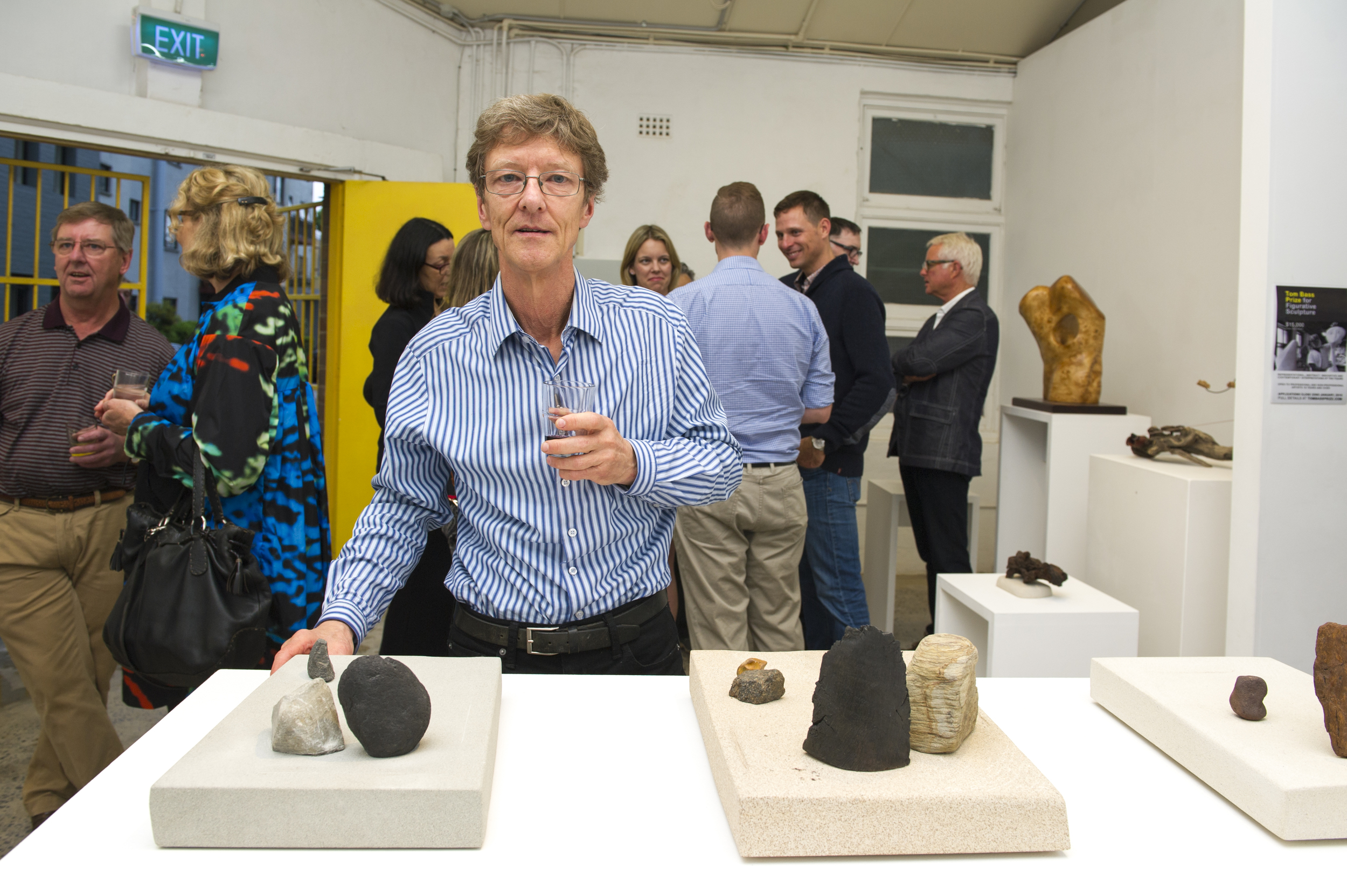 Copy of The sculptor Simon Gandevia at his opening.