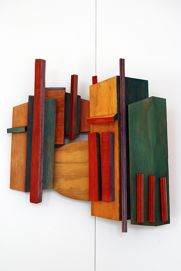 Copy of 'Erskineville Shops', Linda Bowden, plywood.
