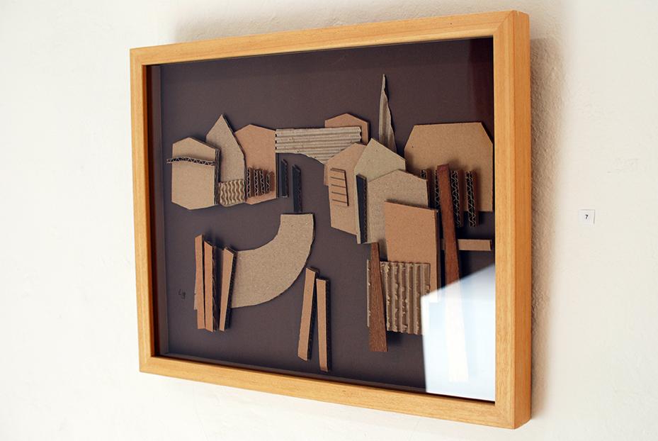 Copy of 'Corner of Albert Street', Linda Bowden, cardboard.
