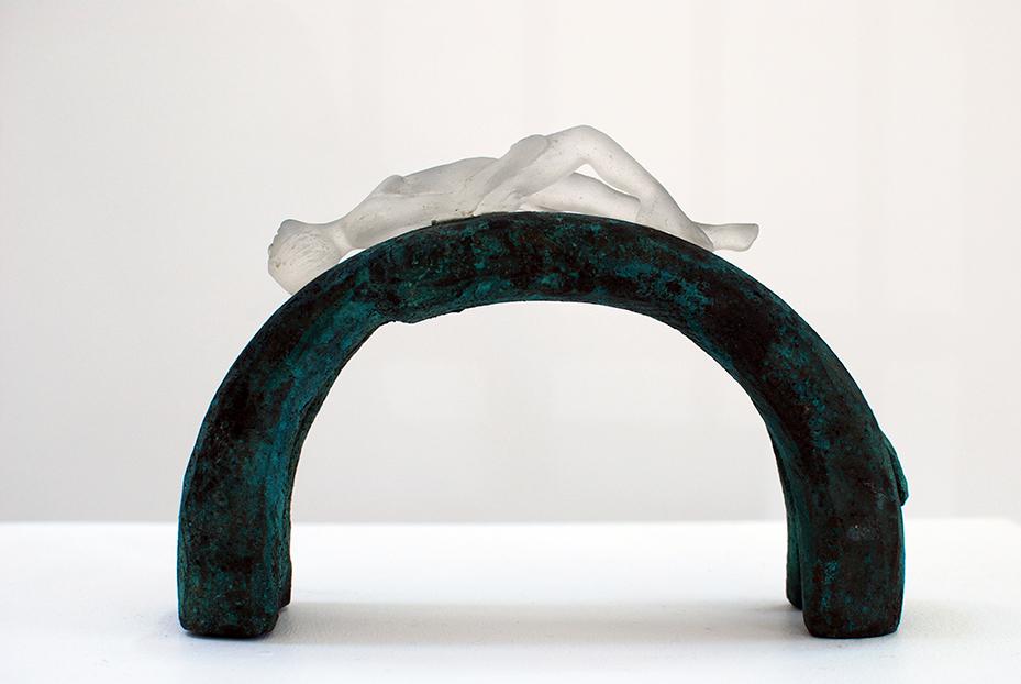 Copy of 'Lying Around', Sallie Portnoy, glass & bronze.