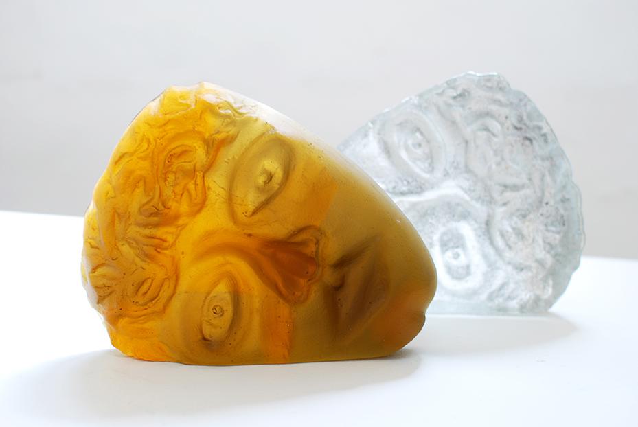 Copy of '2 Faces', Sallie Portnoy, glass.