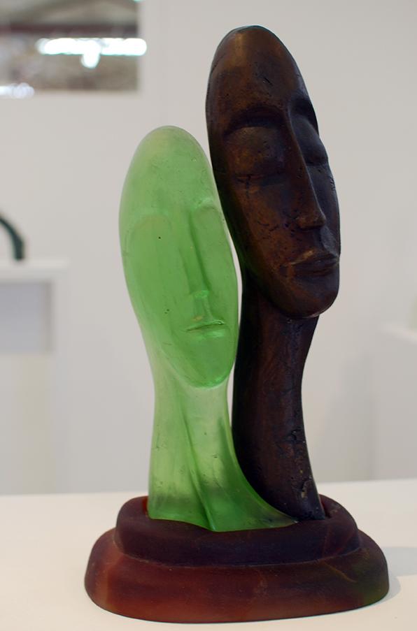 Copy of 'Mixed Marriage', Sallie Portnoy, glass & bronze.