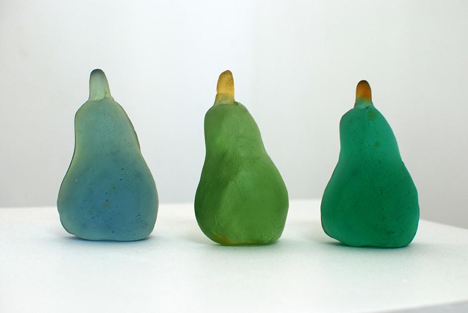 Copy of Detail: '5 Pears', Sallie Portnoy, glass.