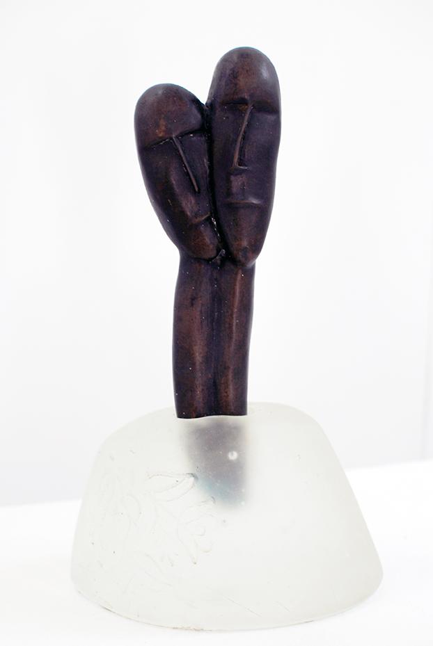 Copy of 'Couple', Sallie Portnoy, glass & bronze.
