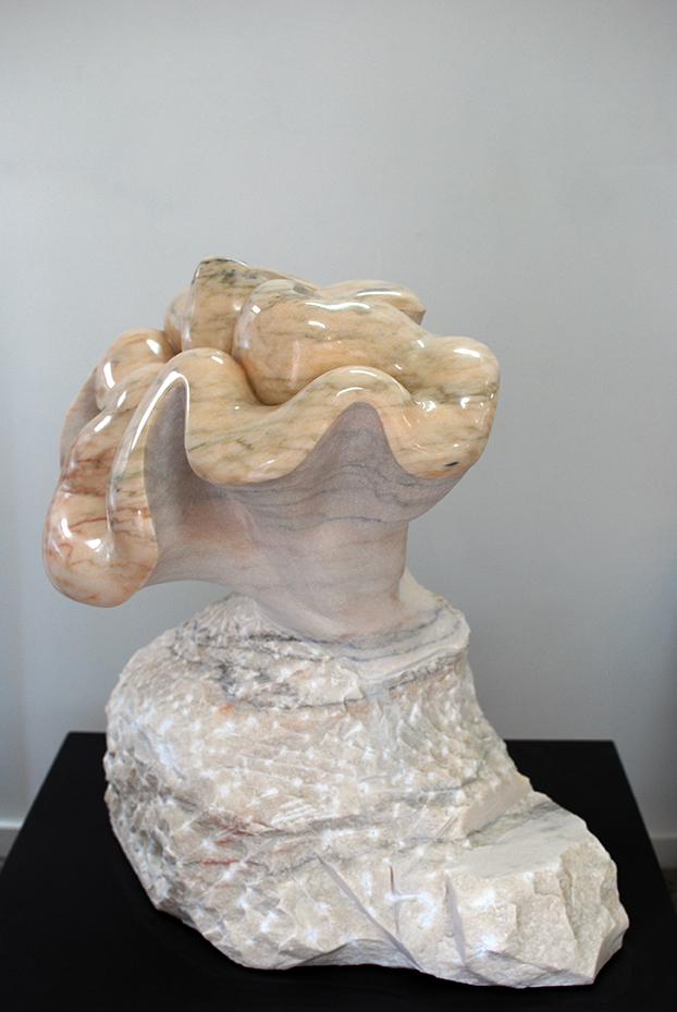 Copy of 'Eve', 2012, Pink Portuguese Marble, Leah Ferris.