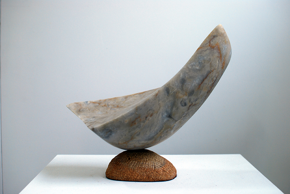 Copy of 'Slipping Away', 2015, Gold Marble with Sandstone base, Sam Eller.