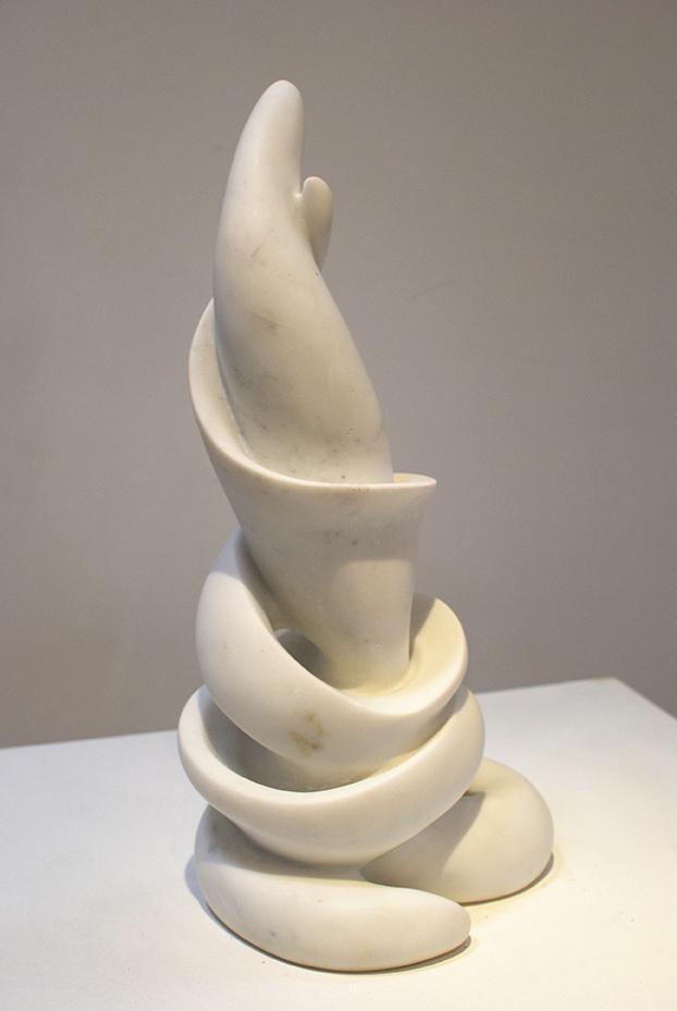 Copy of 'Interactions', 2013, Carrara Marble, Elisabeth Thilo.