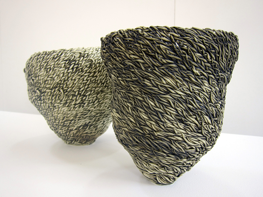 Copy of Spinifex Couple ( I & II ), 2015, Porcelain paper clay, Kim-Anh Nguyen.