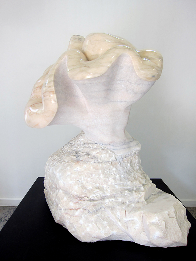 Copy of 'Eve', 2012, Rosa Portugallo Marble, Lea Ferris. Represented by Defiance Gallery