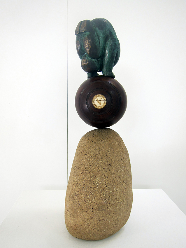 Copy of 'Jack', bronze, ceramic, collected object, Anita Larkin. Represented by Defiance Gallery
