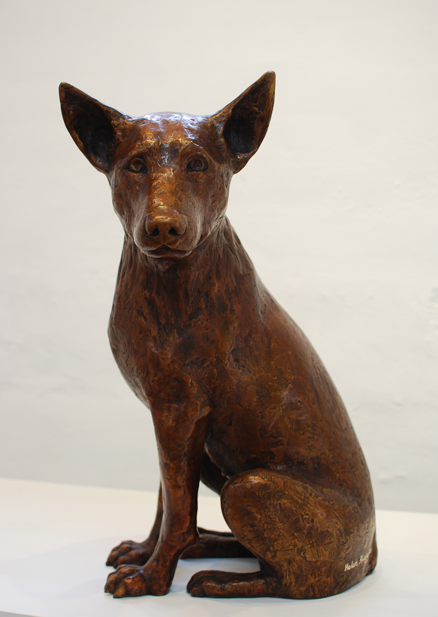 Copy of 'Alinta', Watching Her Puppies (Alinta is the Aboriginal work for flame), bronze, limited edition of 1/5, $16,000.