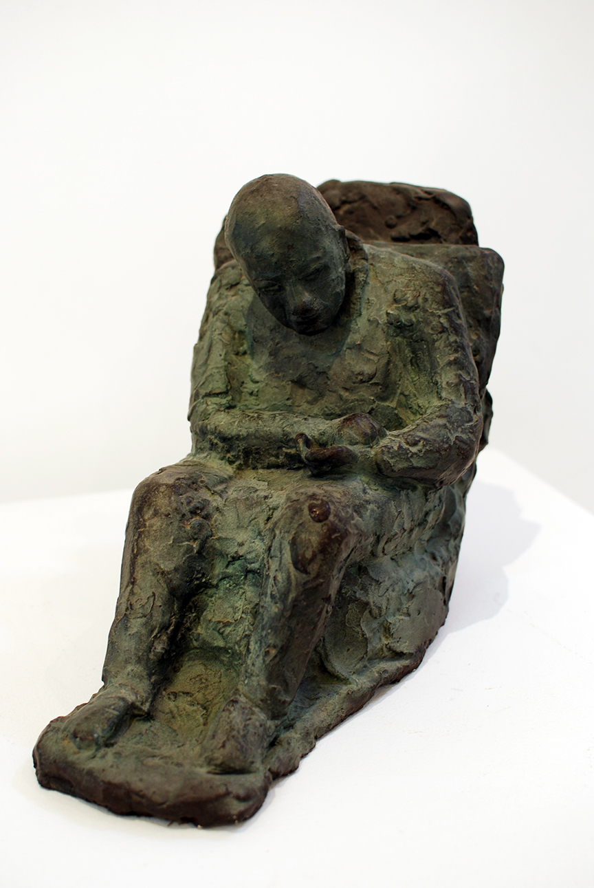 Copy of 'Dying Doctor Taking His Pulse', plaster, sisal, $990