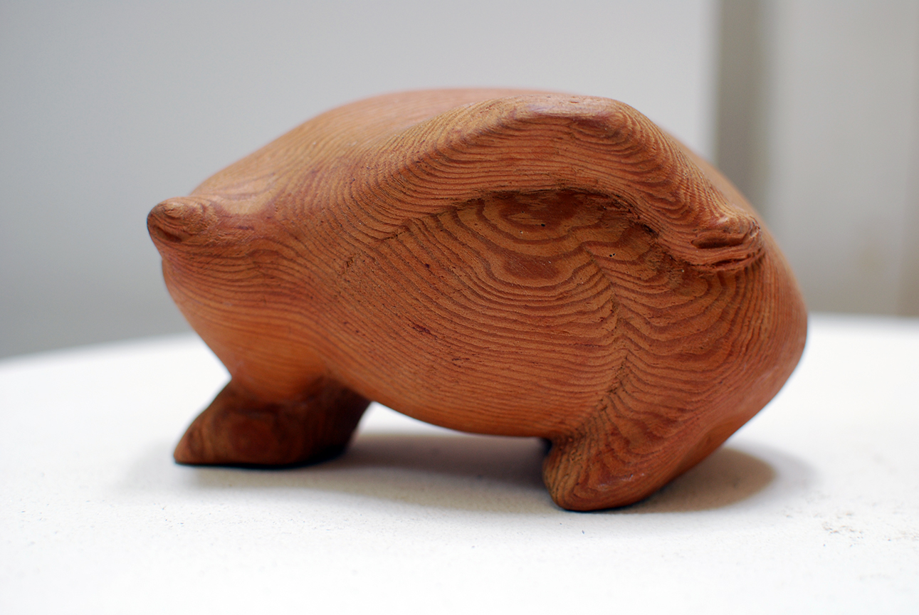 Copy of 'Wombat', wood, SOLD
