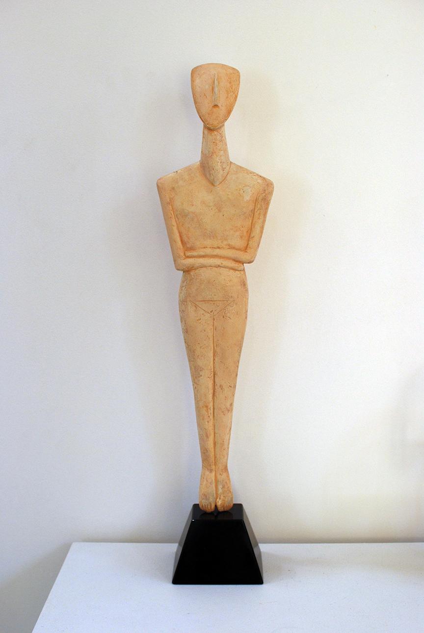 Copy of 'Cycladic Figure', plaster, sisal, granite, $1,400