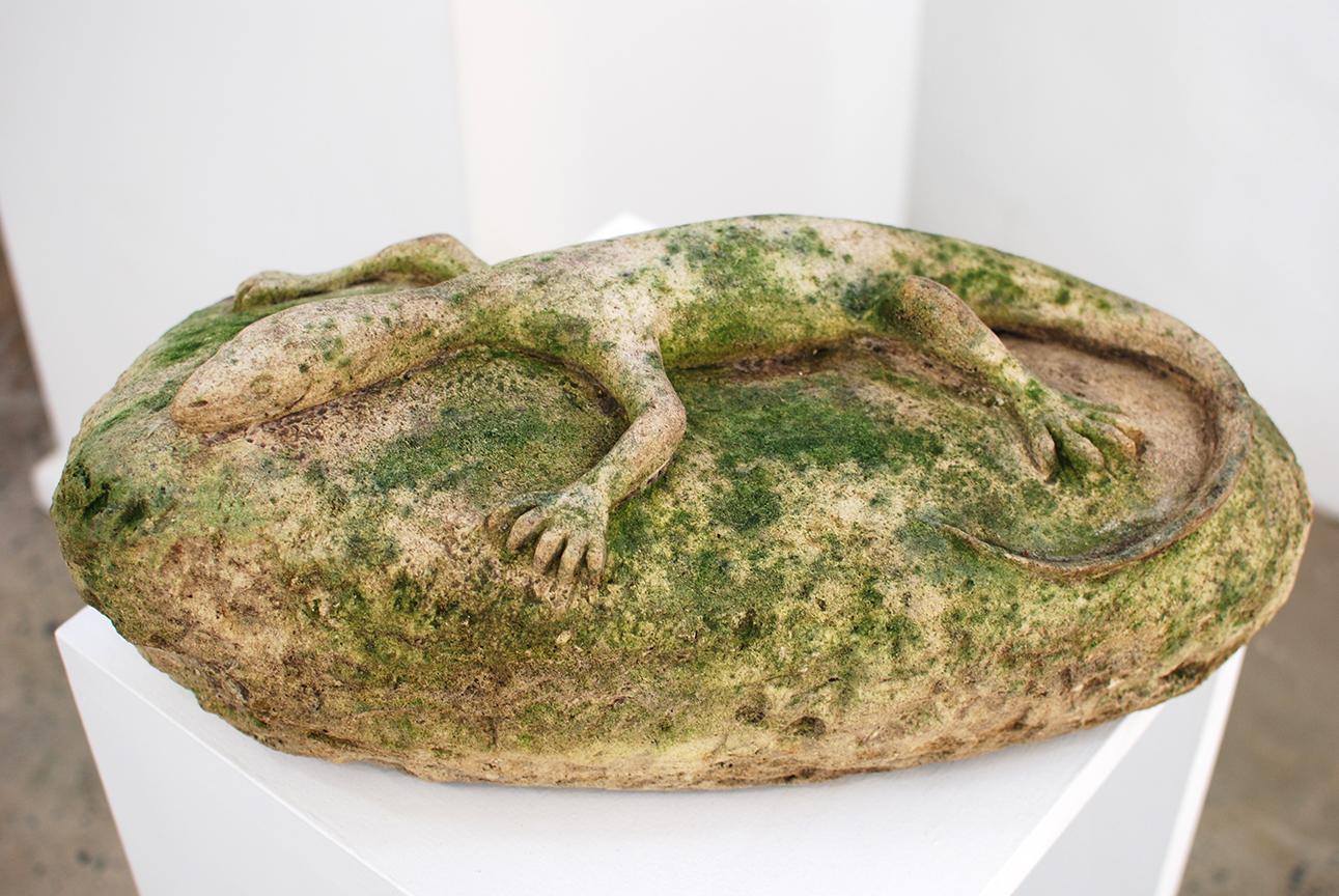 Copy of Lizard, limestone, SOLD