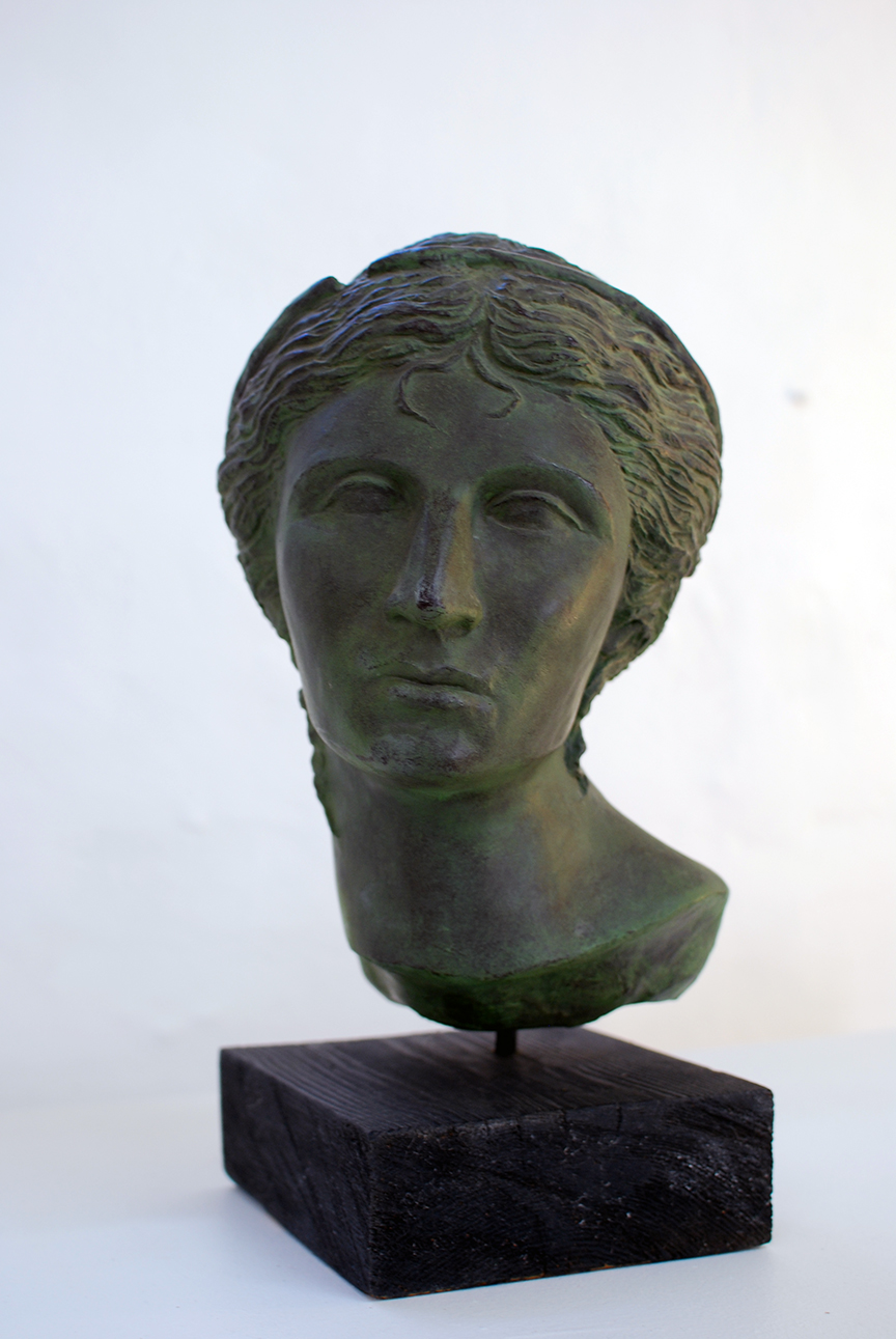 Copy of Aphrodite, plaster, wood base, $750