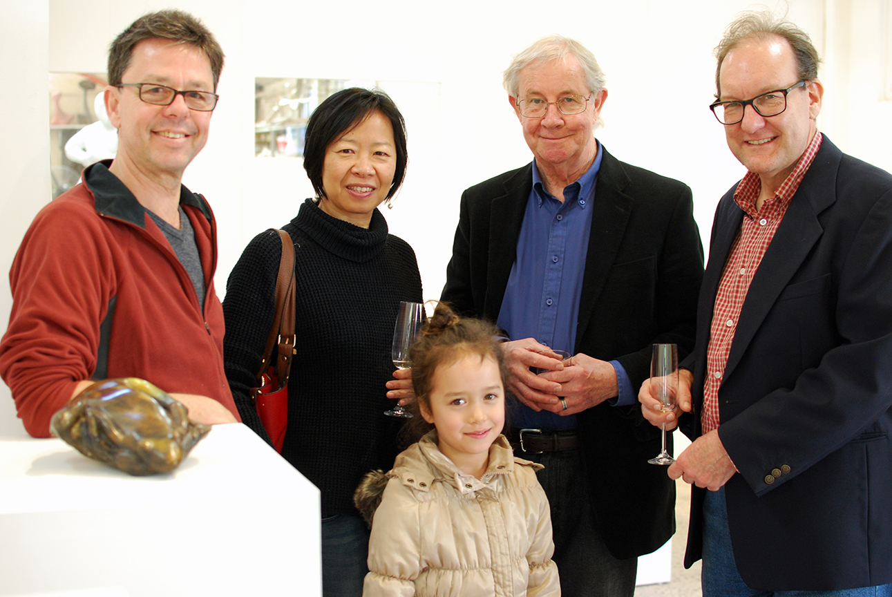Copy of Ian Kennedy (second from right) with friends at the opening.