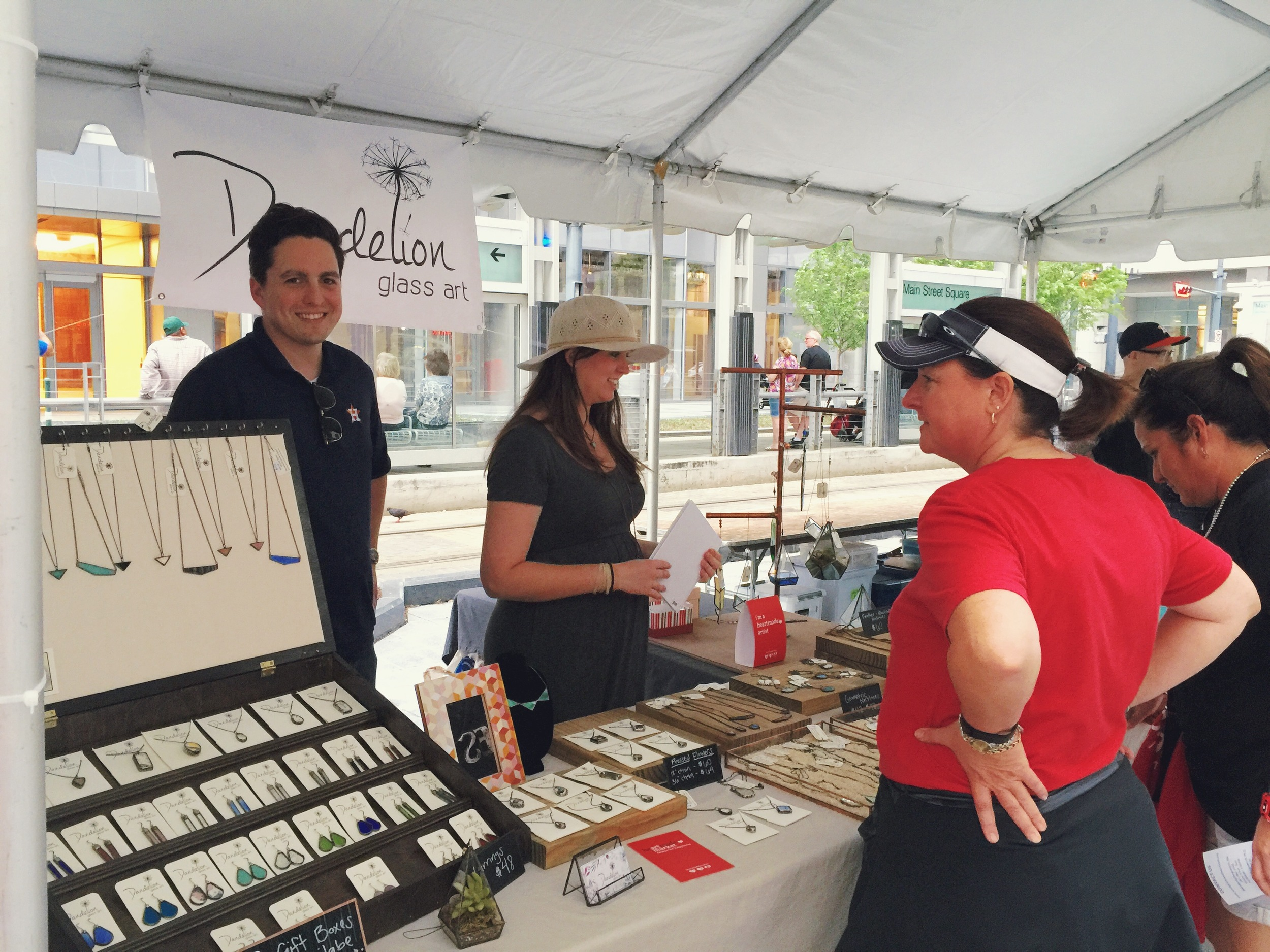 Jessica Barto of Dandelion Glass is wowing customers with her gorgeous work!