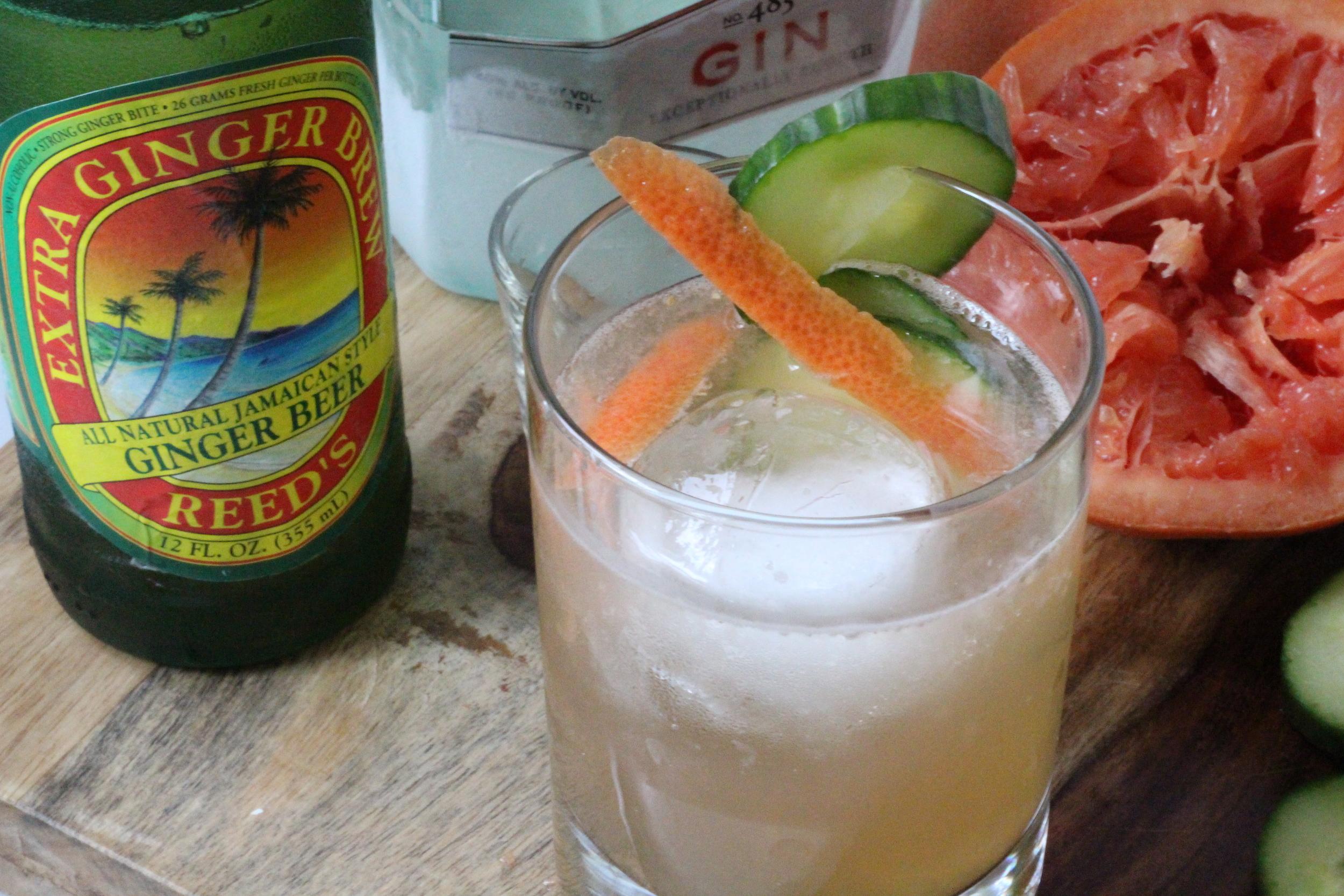 Kendra Castillo: Cucumber Grapefruit and Gin Fiz Coctail