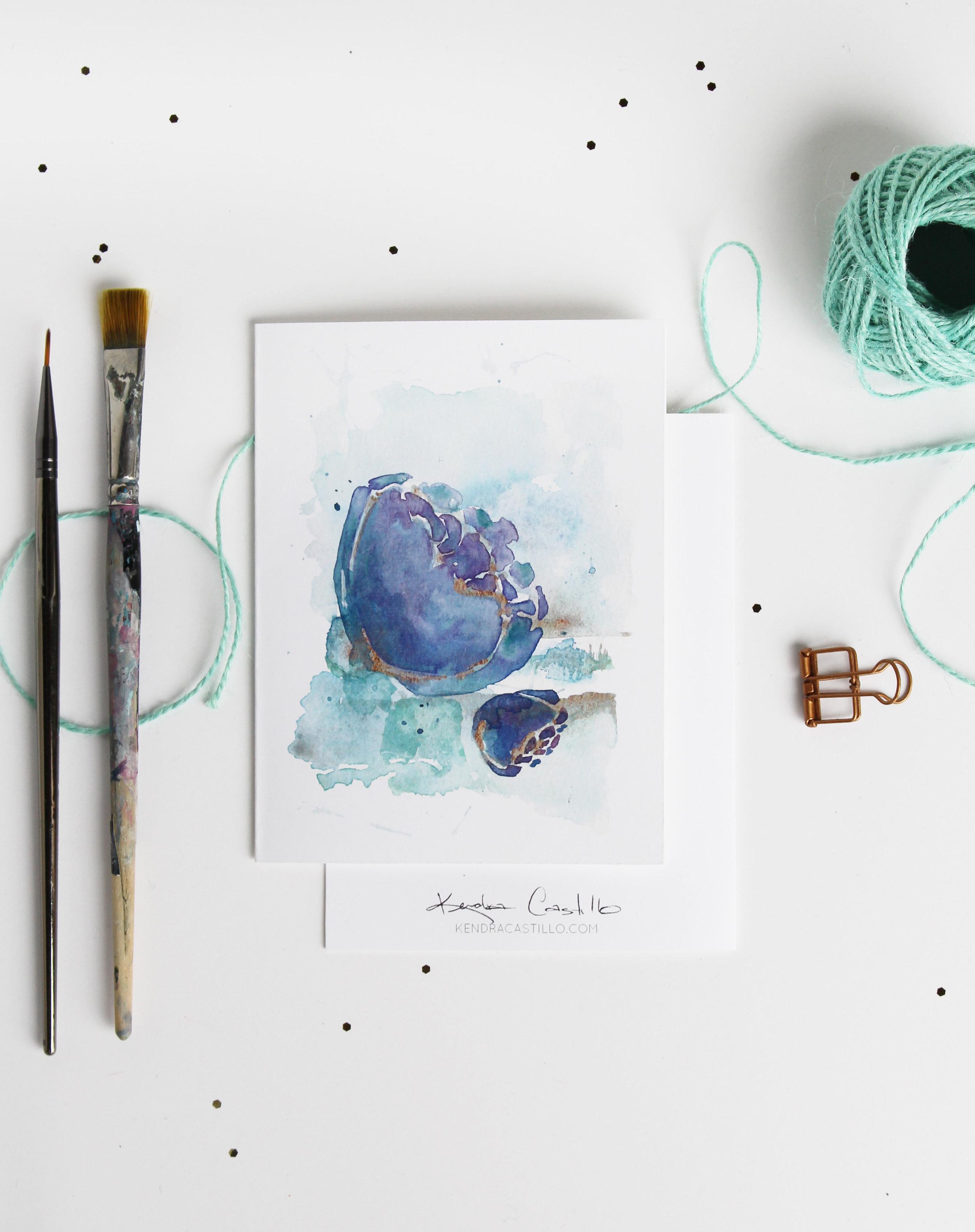 perfect Christmas Gift // Handmade Watercolor Notecards