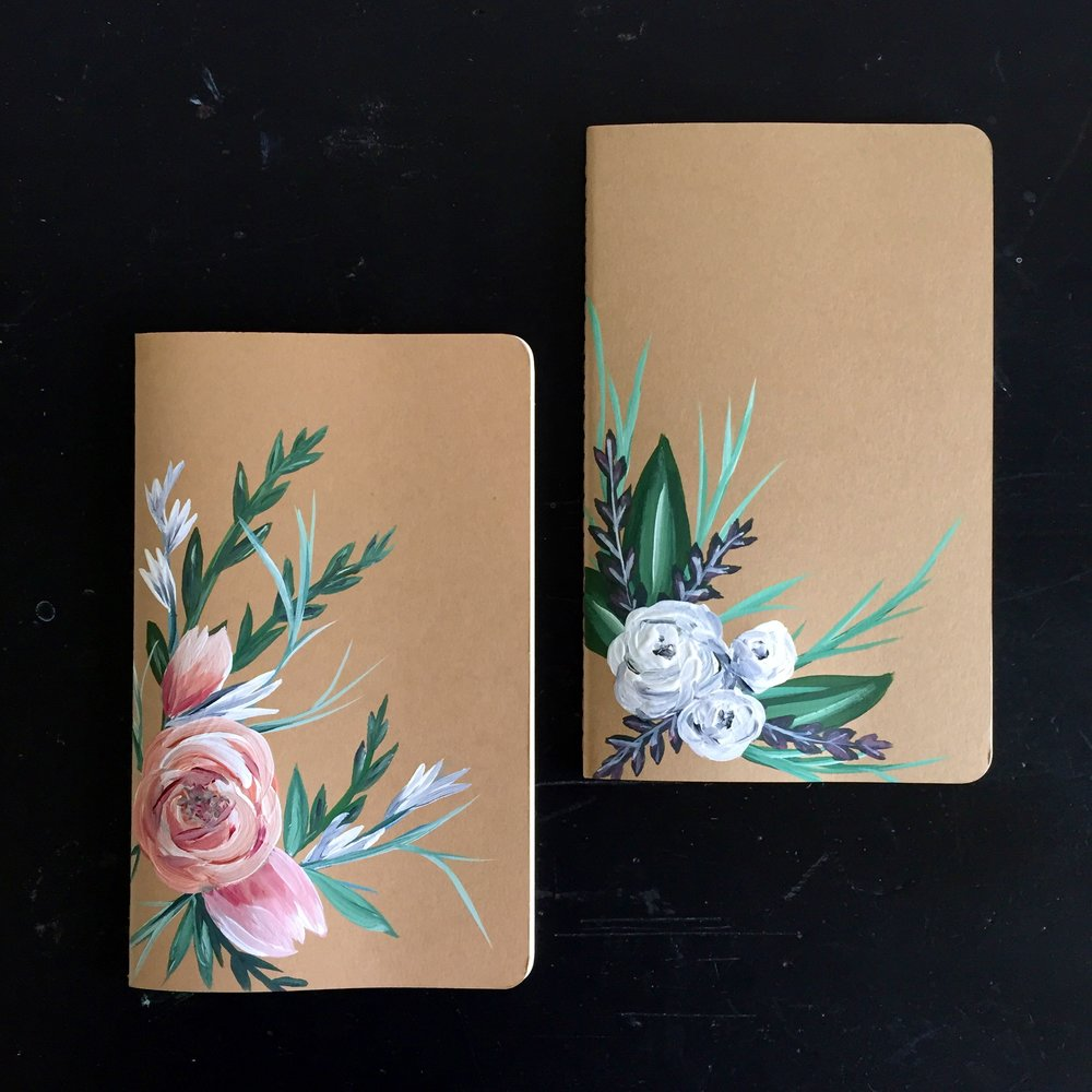 Hand Painted Journal by Kendra Castillo