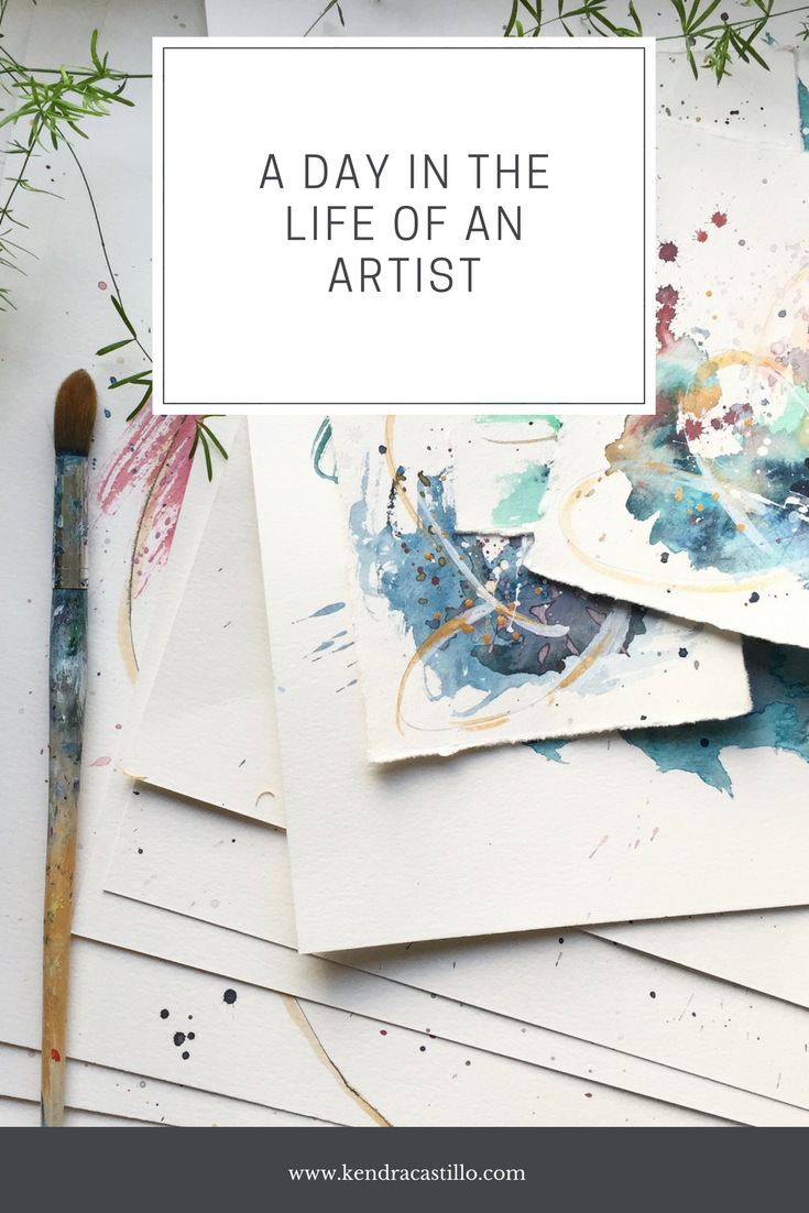A day in the life of an Artist | Kendra Castillo