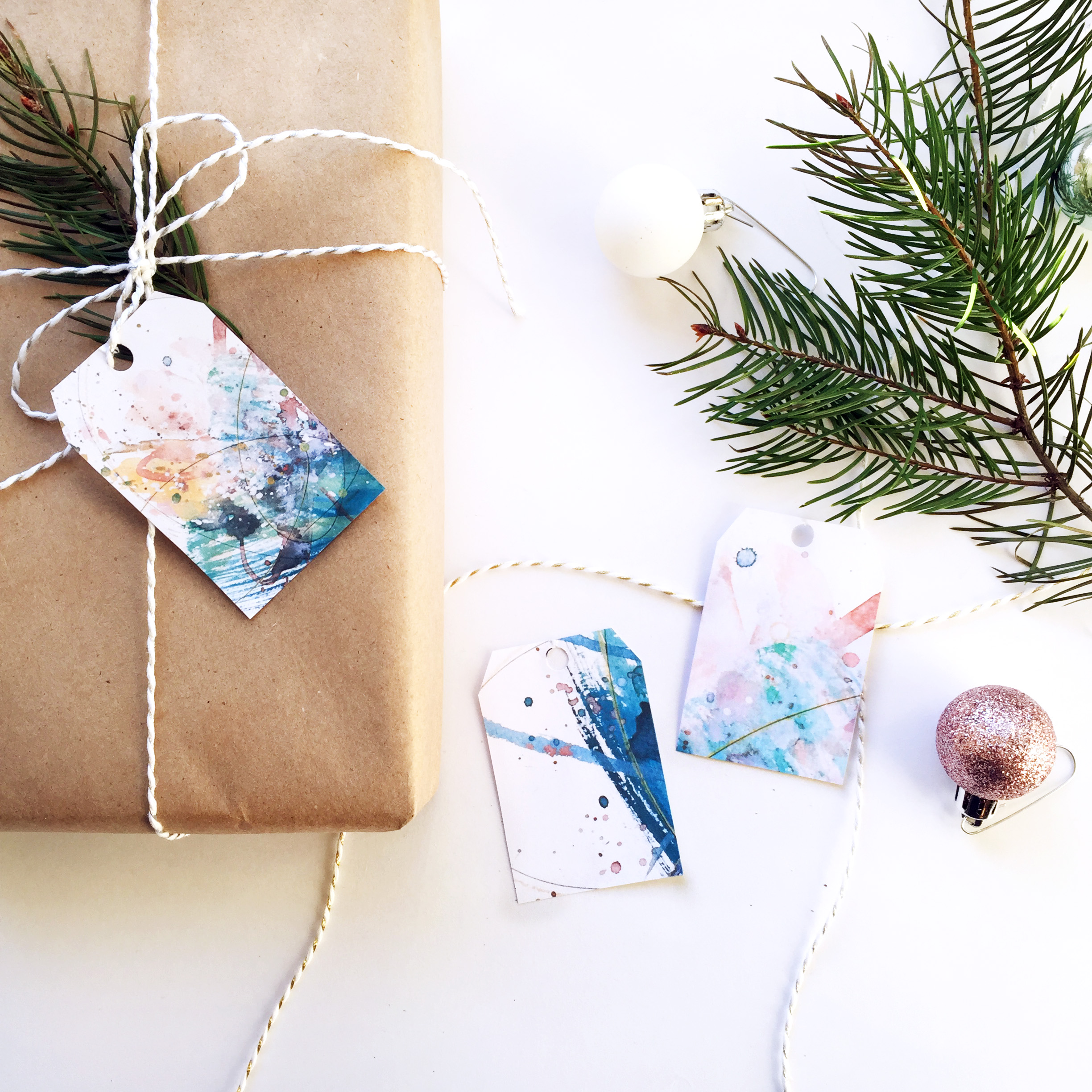 Colorful Gift Tags, Printable Download (9 designs) | Kendra Castillo.com