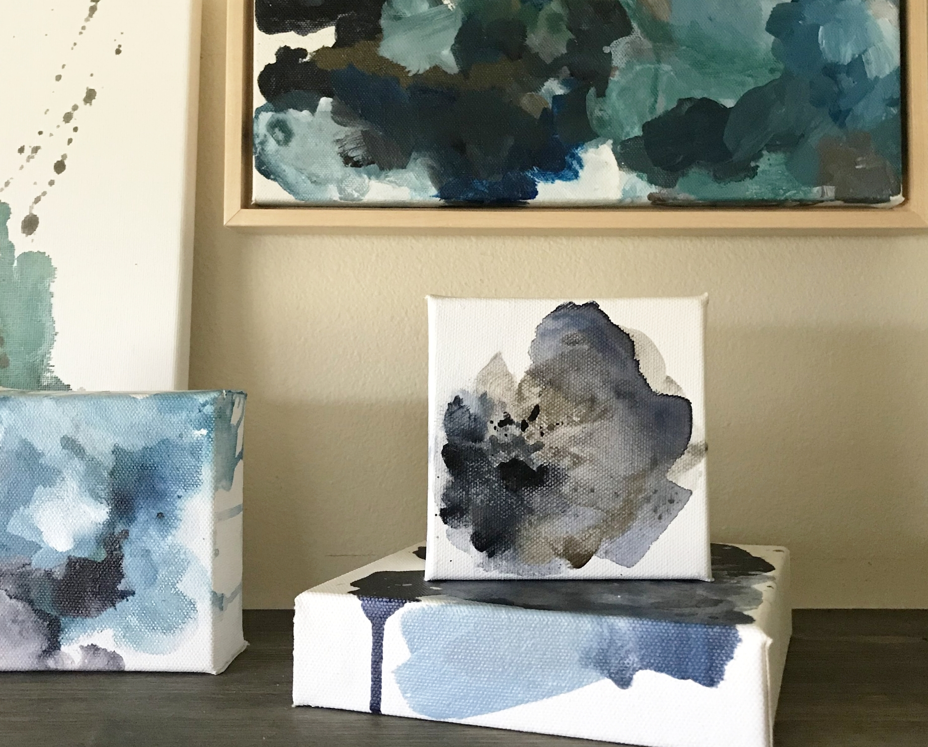 Mini Abstract Paintings by Kendra Castillo
