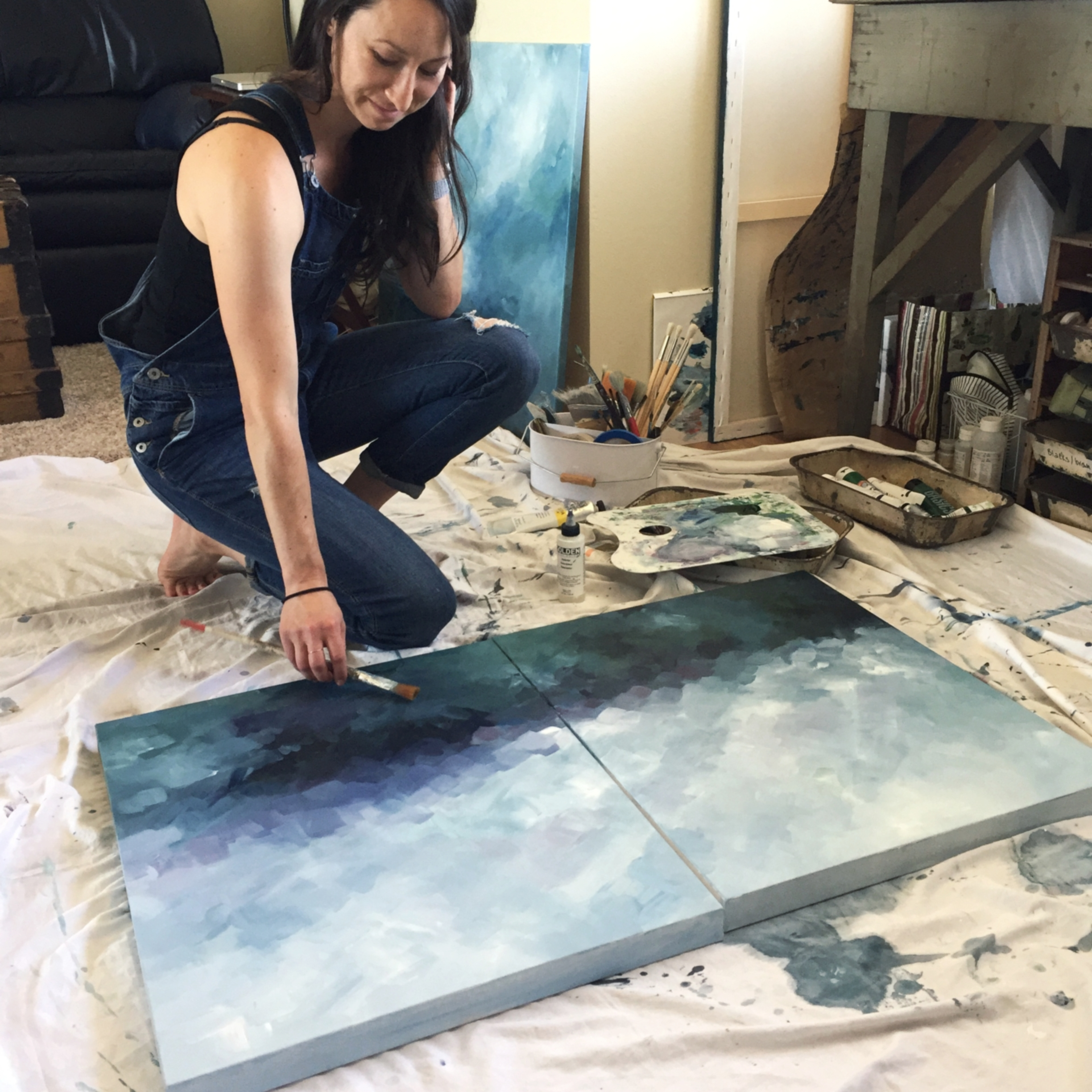 Painting in small spaces