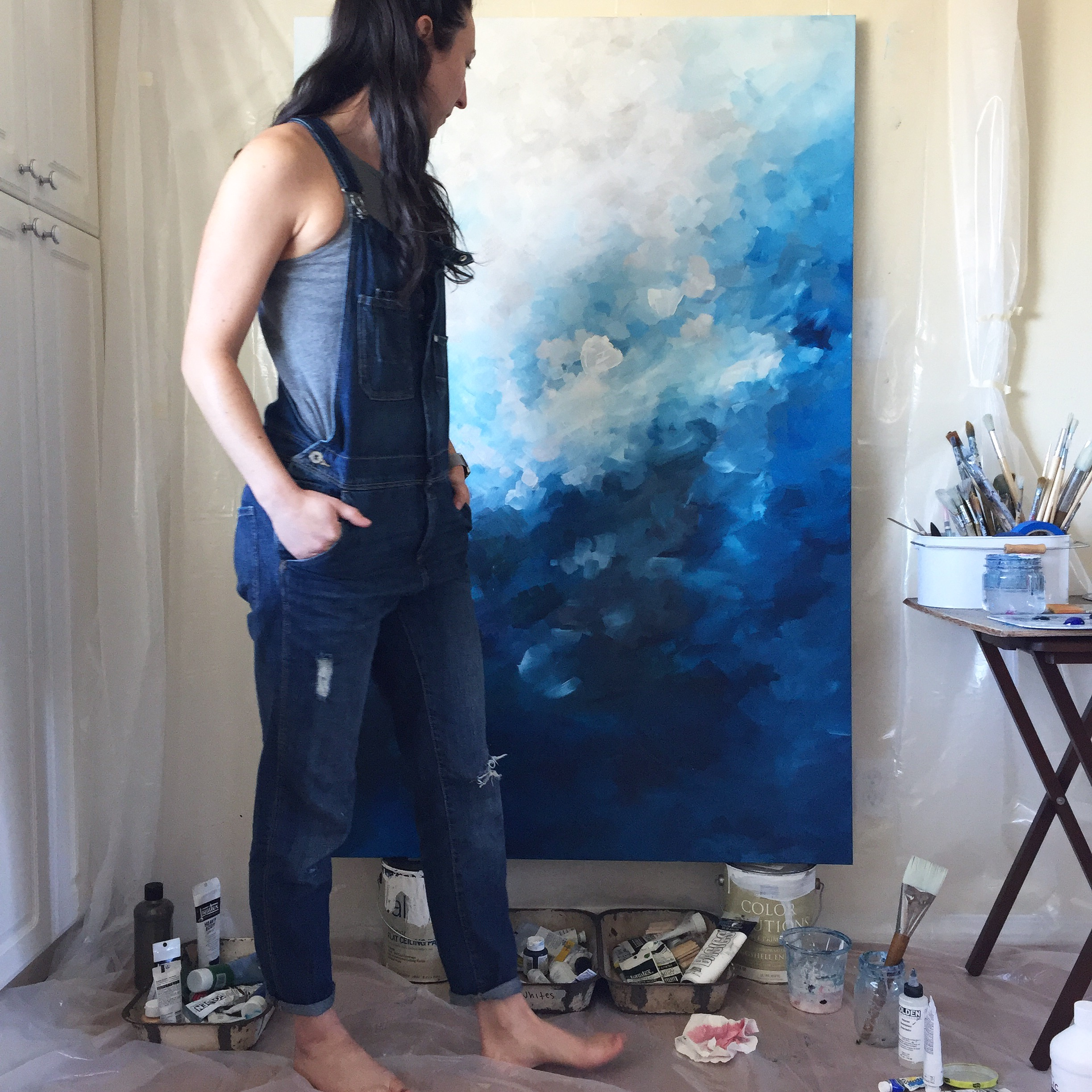 Thoughts on creating in not so ideal environment - Kendra Castillo, Abstract Artist