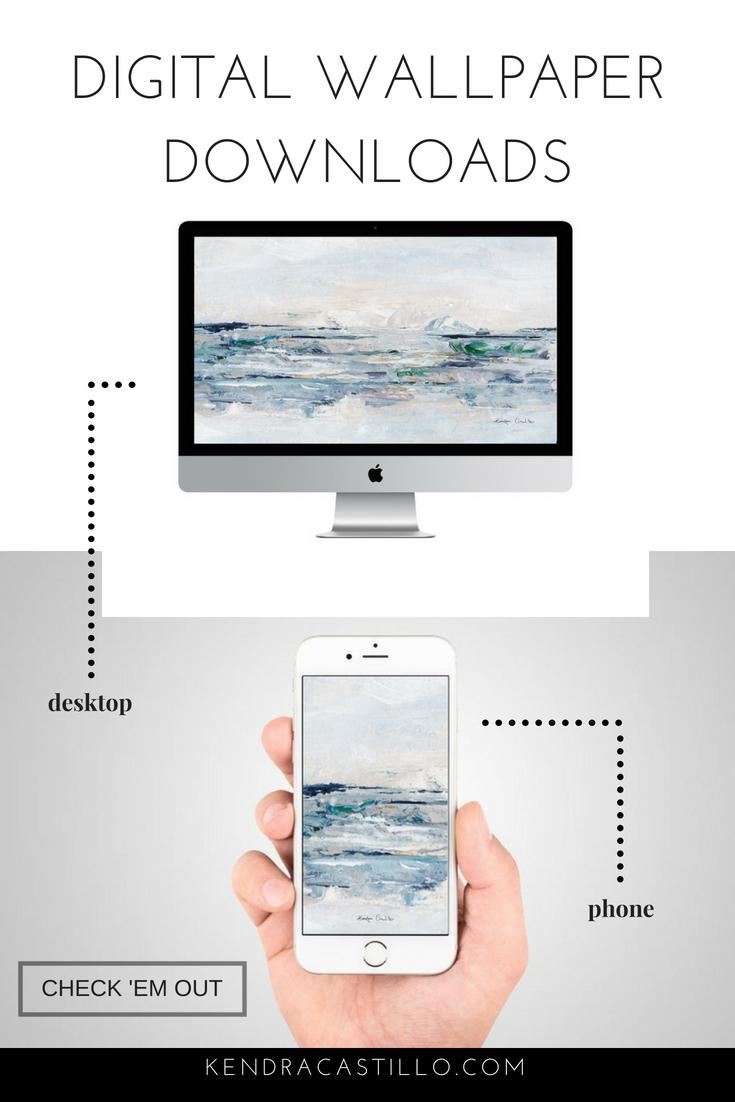 Free Desktop & Phone Art wallpaper downloads by Kendra Castillo