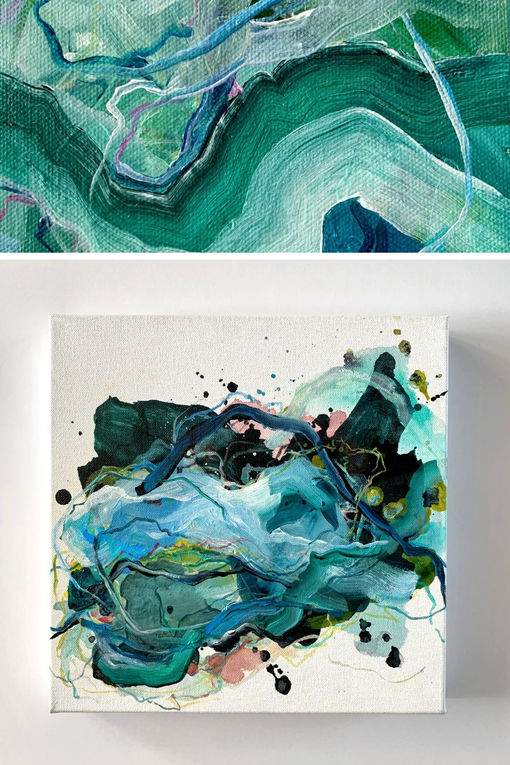 Embracing the Creative process. New Abstract Originals by Kendra Castillo