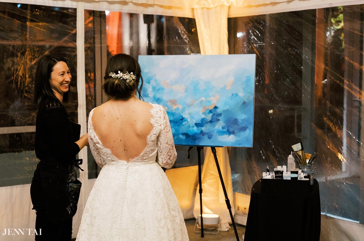 Live Event and Wedding Paintings, abstract wedding artist Kendra Castillo.