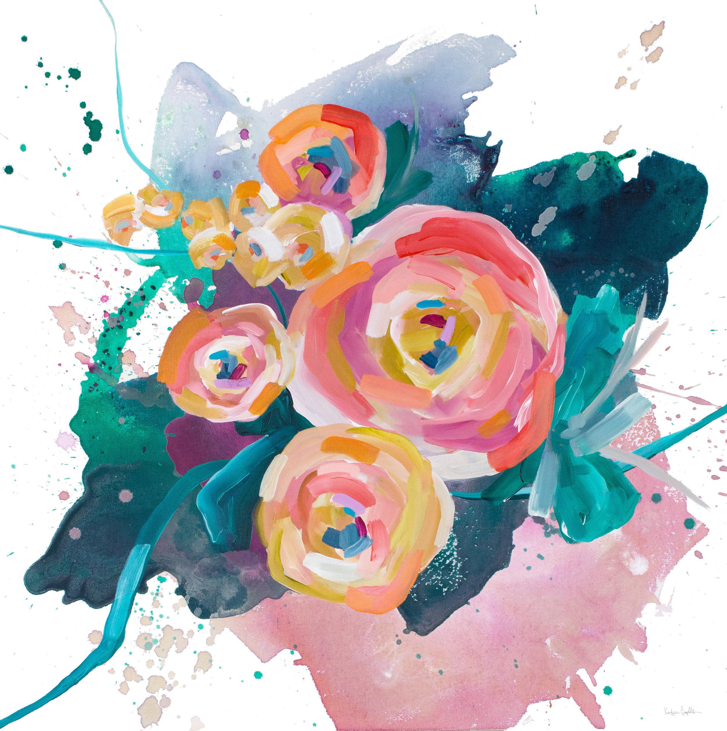 Spring Floral no.2, 30x30