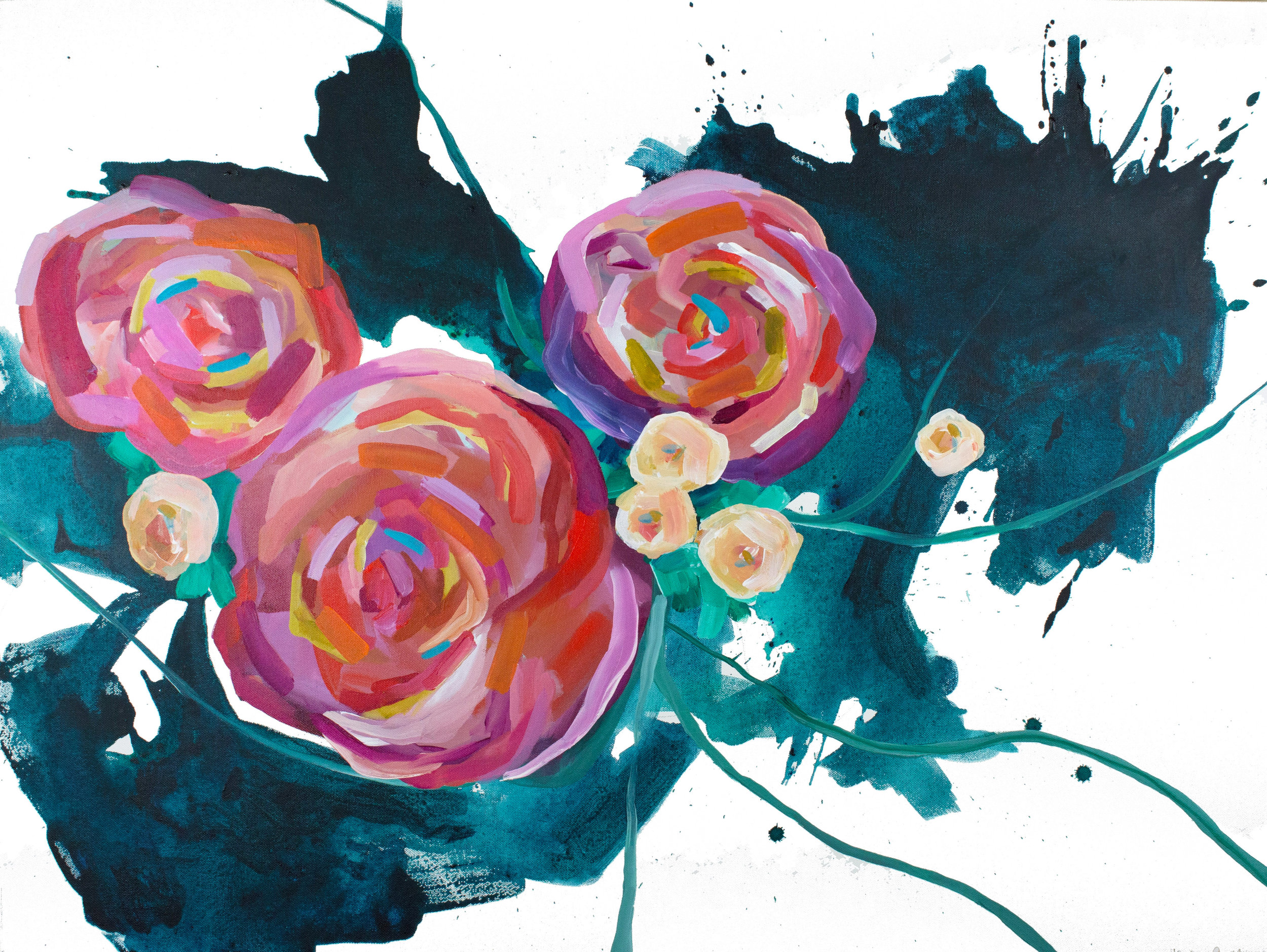 Sprint Florals no.1, 30x40