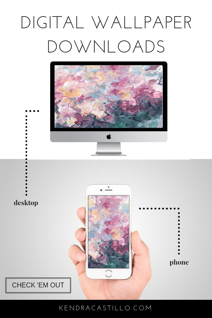 Abstract Artwork for your Desktop & Phone background wallpapers - Instant Download. Artwork by Kendra Castillo
