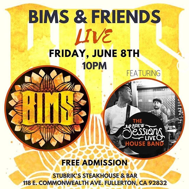 Tomorrow night @10pm! The @brewsessionslive house band has been graciously invited to jam w/ our buddies @brightismysun out in Downtown Fullerton! It's all family❤️ swing by 🤠