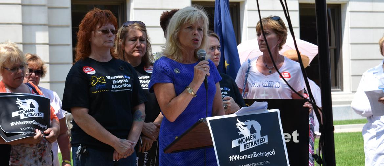 Liz Brown at Women Betrayed Rally in Fort Wayne, Indiana