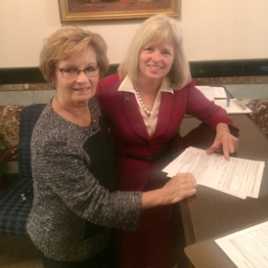 Filing paperwork at Secretary of State Lawson's Office
