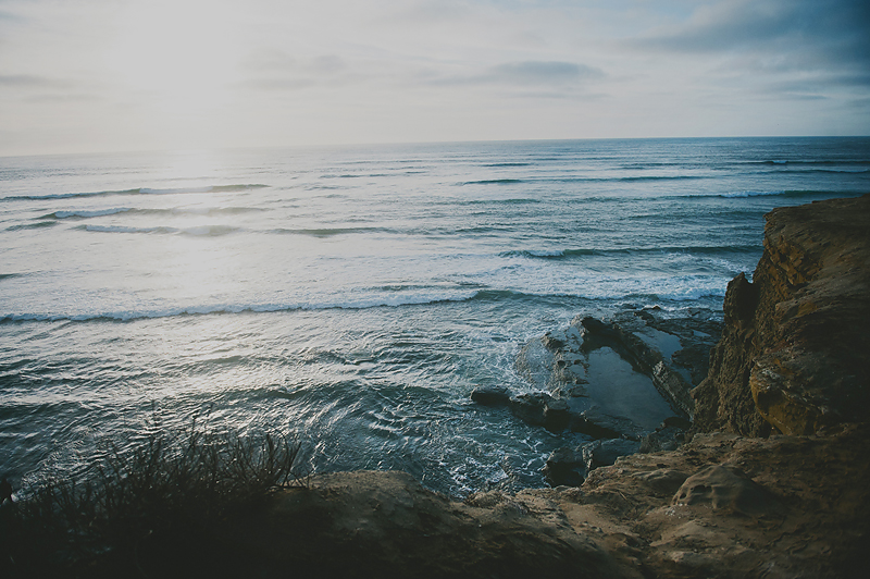 cliffside photo of the ocean in southern California