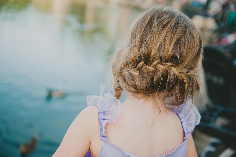 crown braid on little girl