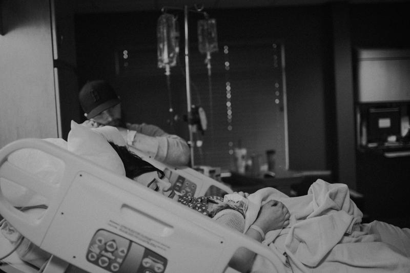 Mom and dad looking at newborn baby at Uintah Basin Medical Center