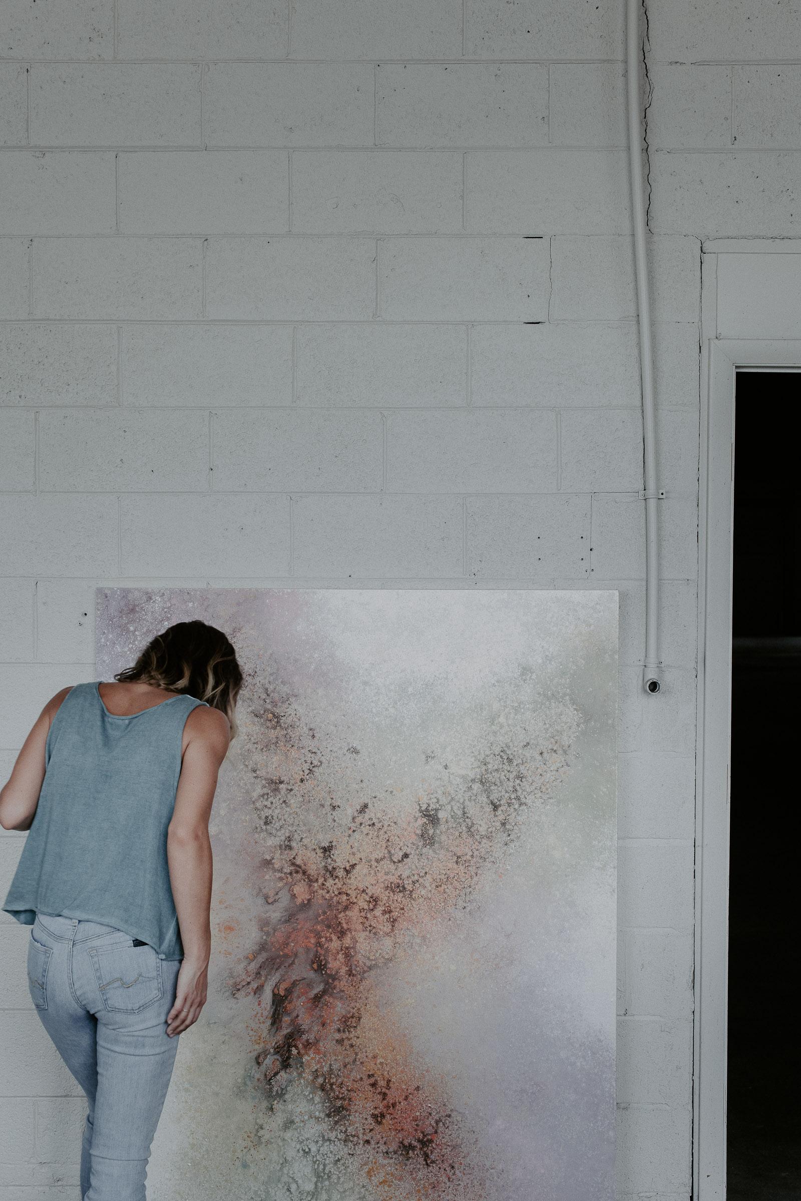 photograph of an artist